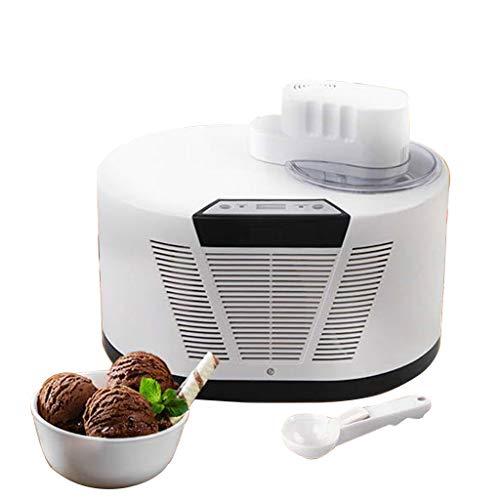 Digital Eiscremebereiter • Vollautomatisch Eis-Maschine • Frozen Yogurt Kompressor • Eis- und Joghurtspezialitäten-LCD Display, Timer & Cooling Function