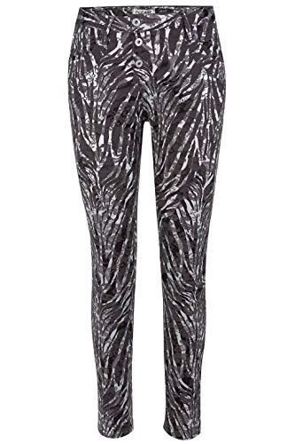 Please Hose P 78A mit Zebra-Muster in Grau, Größe S