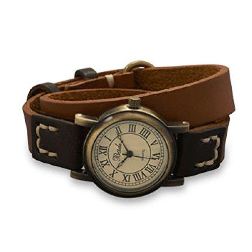 41,91 cm marrón y naranja abrigo de cuero reloj de pulsera