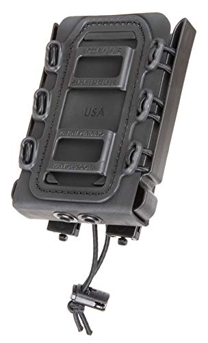 G-CODE Rifle Soft Shell Scorpion Mag Carrier (Black) with R2 Clips- 100% Made in USA