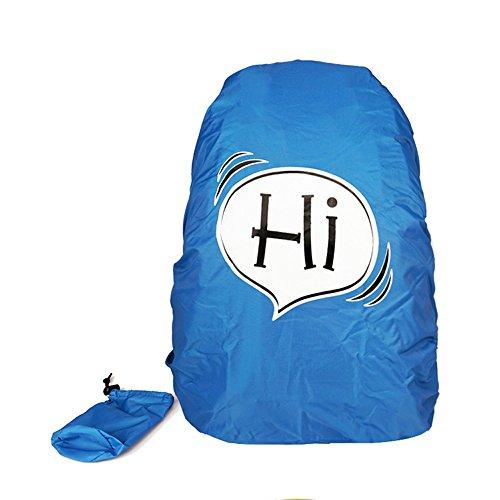 VERTTEE Rucksack Regenhuelle Schulrucksack Regenschutz Wasserdicht Tasche Karton Nylon 30-40L Staubdichte Abdeckung Fuer Wandern Outdoor Schnee Blau