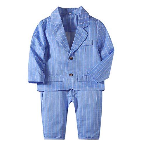 manadlian 2Pcs Ensemble Bébé Garçon Costume Manches Longues en Coton Manteaux + Pantalon Hiver Mode Vetement pour Mariage Baptême Vêtement Costume Jacket Pants Set Outfits