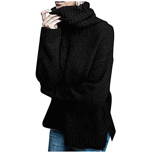 Hemlock Women Winter Knitted Sweater Turtleneck Cropped Sweater Coat High Collar Outerwear Pullovers Black
