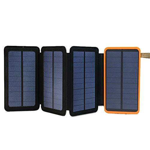 Buop Solar Powerbank, 10000mah, waterdichte oplader op zonne-energie, met 2 USB-poorten, compatibel met 6W/8W voor mobiele communicatiesystemen, outdoor-activiteiten, kamperen, wandelen