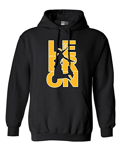 Beach Open Sudadera con Capucha de Los Angeles LA Basketball DT Lebron Fan Wear 23 - Negro - Small
