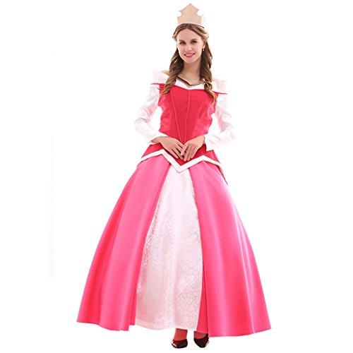 Fortunehouse Aurora Dress - Disfraz de princesa dormida para Halloween