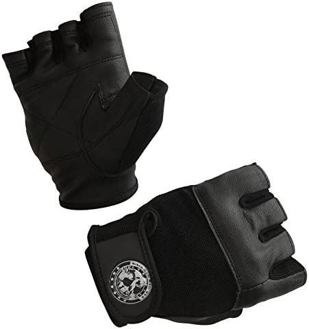 Nibra Gym Wear USA Gym Gloves Black with Wrist Closure for Man Women Padded Workout Crossfit product image