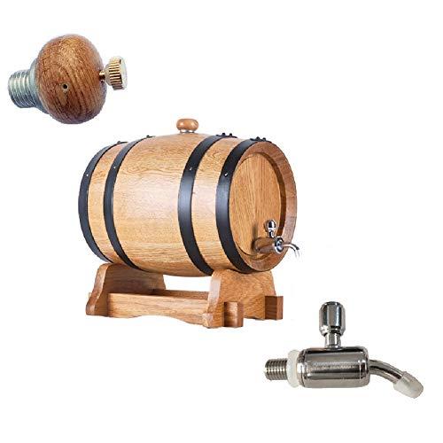 Ann-Portaghiaccio Botte di Rovere in Legno di Vino Botte di Rovere Vintage in Legno di Rovere di Legno per Barile di Legno per archiviazione o Aging Wine (Color : A, Size : 5L)