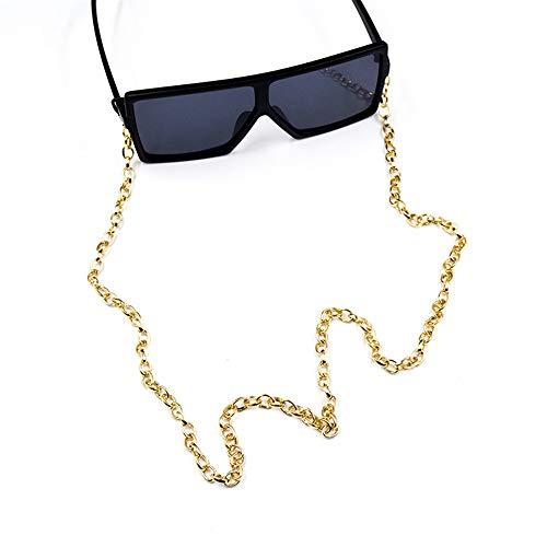 Yhjkvl-AC Cadena de gafas, estilo retro, de metal, para colgar en el cuello, gafas de sol antipérdidas, cadenas de gafas de sol, accesorios (color: dorado)