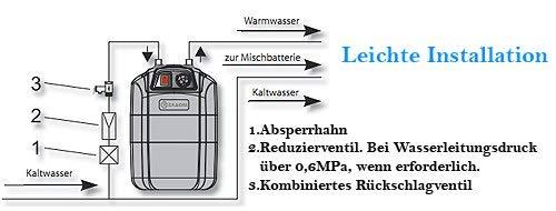 Eldom Warmwasserspeicher Boiler 10L Untertisch druckfest - 3