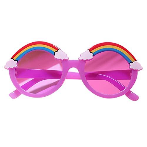 Goutui Gafas de sol para niños con diseño de dibujos animados de arco iris ultraligeras UV400 protectoras, lindas para exteriores