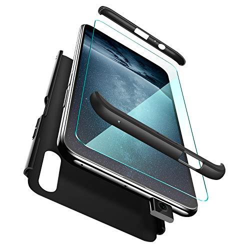 ivencase Funda para Xiaomi Redmi Note 8T + Cristal Templado, para Xiaomi Redmi Note 8T Funda 3 in 1 Rígida PC Protective Anti-rasguños Case Cover Caso