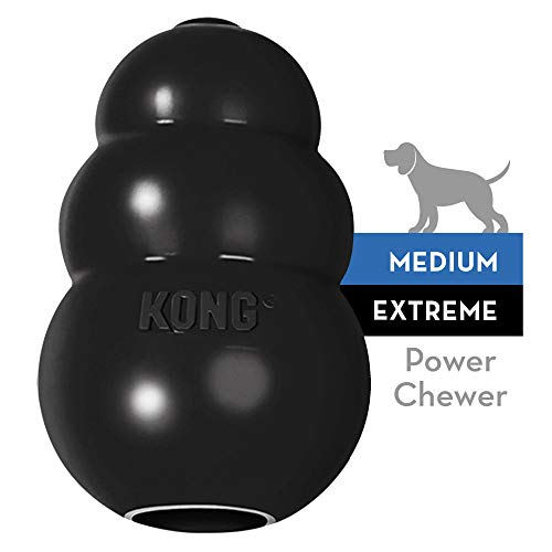 KONG - Extreme - Juguete de robusto caucho natural negro - Para morder,...