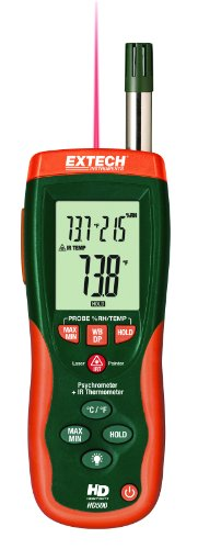 EXTECH HD500 - PSYCHROMETER with 30:1 Infrared Thermometer