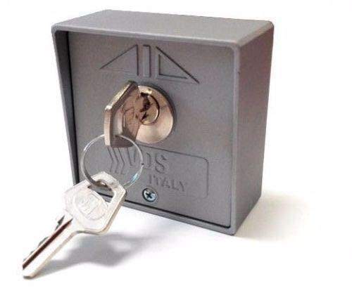Selector de llave exterior de superficie de 2 contactos VDS Start-Stop para accionamiento de motores de puertas de garaje, persianas comerciales, automatismos, control de accesos