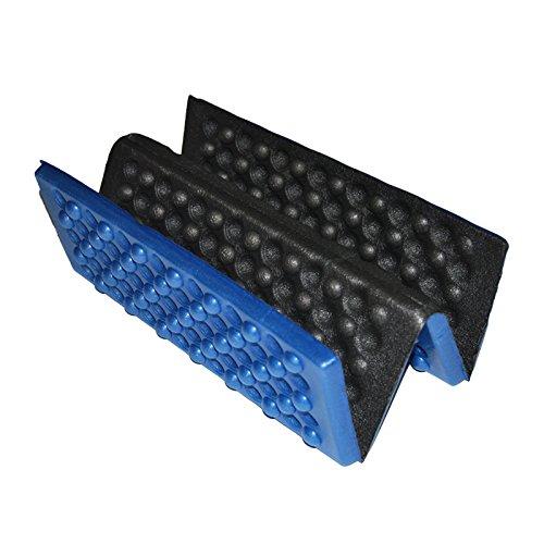 Almohadilla del asiento - SODIAL(R)Personalizado plegable Almohadilla del asiento a prueba de agua de espuma Cojin de silla Celeste + Negro