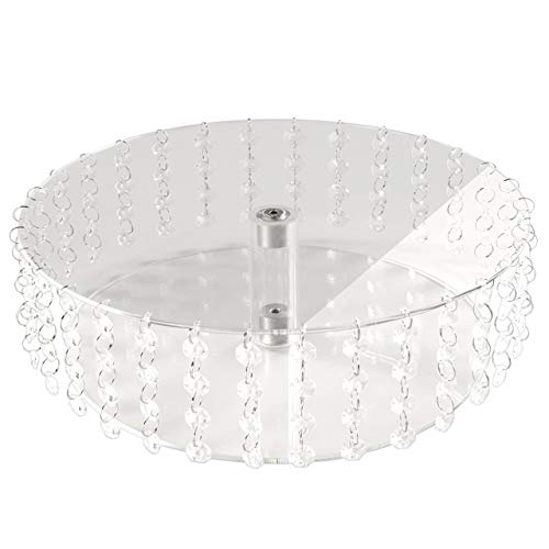 Manschin Laserdesign Acryl Tortenständer Rund Hochzeit einzelne Etagen Etagere Geburtstag Alu Ø 28 cm Durchmesser (Höhe 10cm)