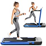 ANCHEER Folding Treadmill for Home Workout, 2.25HP Electric Walking Under Desk Treadmill with APP Control, Portable Exercise Walking Jogging Running Machine