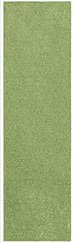 Home Queen Solid Lime Green Color Custom Size Runner 4' x 6' - Area Rug