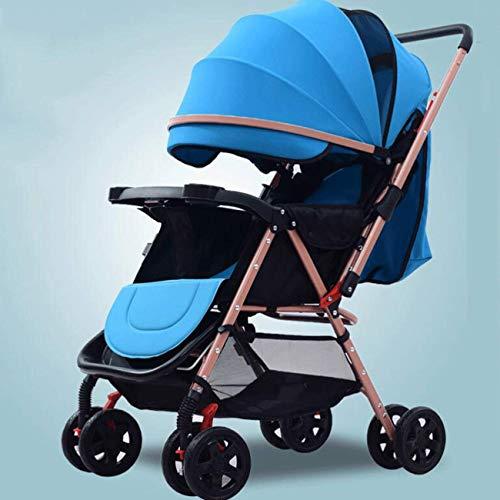 Hacrft Kinderwagen mit Vorderradfederung, leichter Kinderwagen, zusammenklappbar, geeignet für 0–3 Jahre alte...