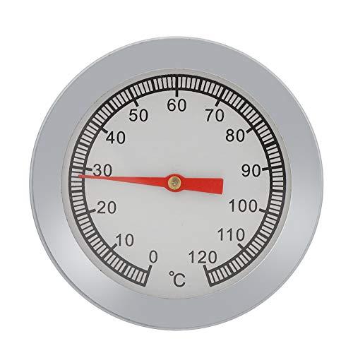 Temperatur 120 ? Backofen Grill Braten Koch Raucher Thermometer Sofort Ablesbar Edelstahl Temperaturanzeige Analog Zifferblatt Doppelwaage für Küche Kochen Grill Backen