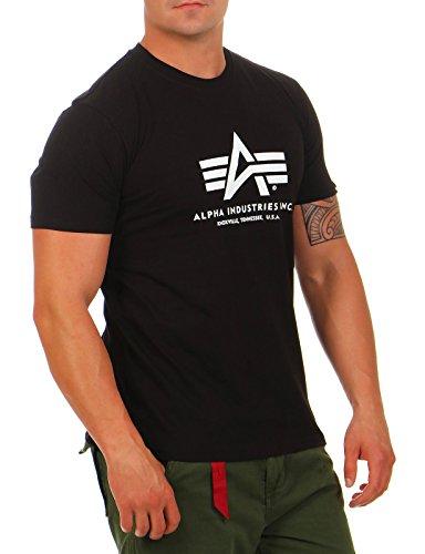 Alpha Industries Herren Basic T-Shirt,Schwarz (Black 03), XXX-Large