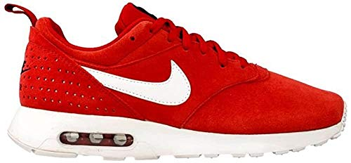 Nike Air MAX Tavas LTR, Zapatillas de Running para Hombre, Rojo/Blanco (Gym Red/White-Black), 43 EU