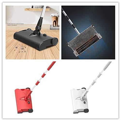 Dasongff Sturdy Sweep veegmachine voor tapijt en harde vloeren, snelle reiniging, veegmachine zonder elektrische aansluiting 1 pc zwart