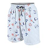 Ticpea Dad Nautical Sailing Gift Quick Dry Swim Trunks Beach Board Shorts-268