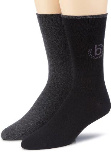 Bugatti Herren Socke 2 er Pack 6762 2 pack, Gr. 43-46, Schwarz (black - 610)