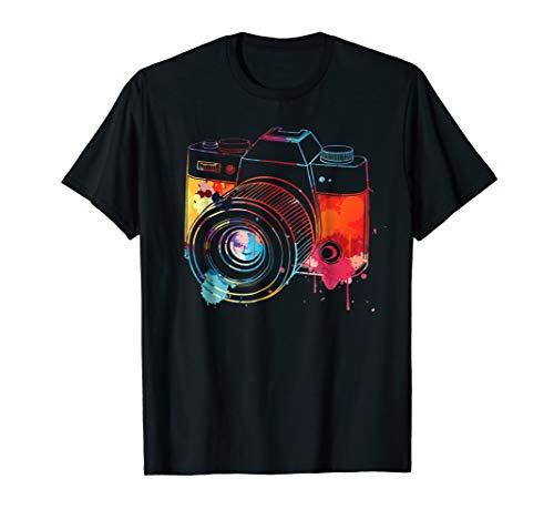 Photography Shirt: Watercolor Camera Photographer Photo Tee