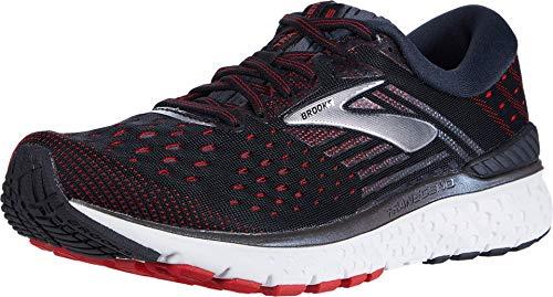 Brooks Mens Transcend 6 Running Shoe - Black/Ebony/Red - D - 10.0