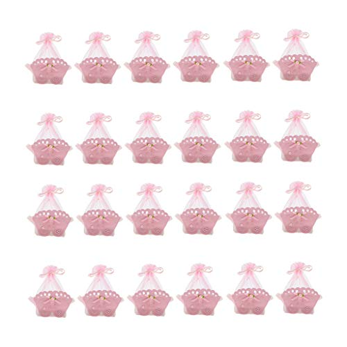 joyMerit 24 Teilige Niedliche Fußabdruck Geschenkbox Mädchen Kind Babyparty Schiere