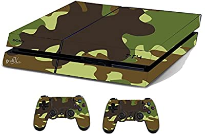 Army Sticker/Skin PS4 Playstation Console & Remote controller stickers, ps4sk6 by the grafix studio