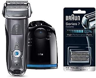 【セット販売】【Amazon.co.jp限定】ブラウン メンズ電気シェーバー シリーズ7 7867cc 4カットシステム 洗浄機付 水洗い/お風呂剃り可 替え刃一個付き