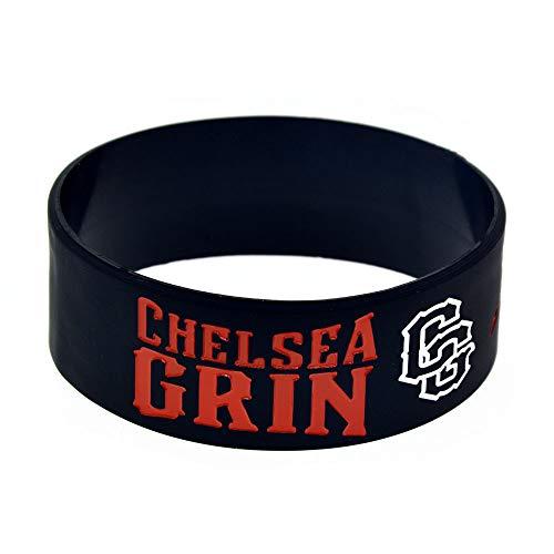 """ZBDuDu 2ST Silikon-Armband """"Chelsea Grin Deathcore Band Chelsea Toter Kern-Band-Silikon-Armband"""