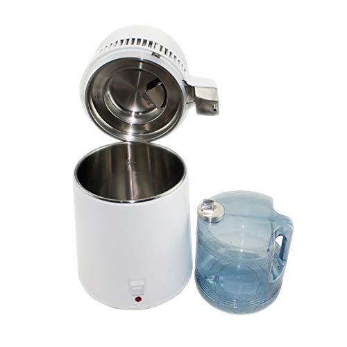 Nai-storage Destilador de Agua 750W Temperatura Ajustable Destilador de Agua 4L Juego de elaboración de Vino Kit de elaboración Destilador de Acero Inoxidable (Color : White)