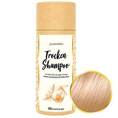 puremetics Zero Waste Trocken Shampoo für helles Haar (Orange) 100{bdeace6f529e779df5b81a5d48ae740d19890d4336beba073e460d026e3e5085} natürlich, vegan & plastikfrei