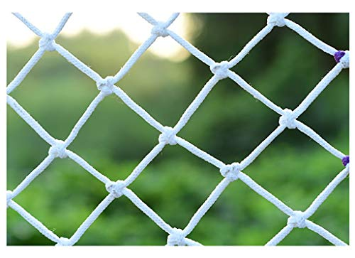 JJSW Balkonschutznetz Dekorationsnetz Seilnetzschutznetz Treppe Kindersicherheitsnetz Absturzsicherung Zaun Netz Nylonseil Bausicherheitsnetz Für treppe Balkon Kindergarten Dekoration Schutz a