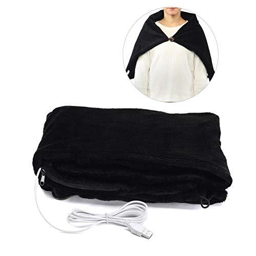 Heoolstranger USB-elektrische verwarmde sjaal, 60 x 100 cm, elektrisch verwarmd deken, draagbaar verwarmde sjaal, voor autostoel, knievoet, schouder en nek, warmte-verwarming