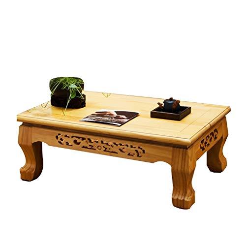 Tables basses Meubles Petite Table Solide lit de Table à thé en Bois rectangulaire Table d'ordinateur Portable for Chambre Salon de Jardin Tables (Color : Wood, Size : 70 * 45 * 28cm)