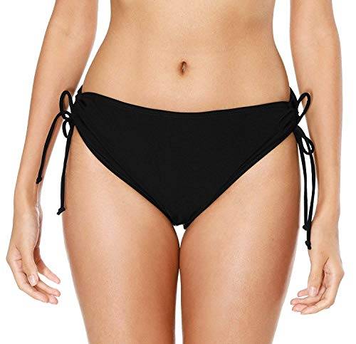 Anwell Damen Schwimmhose Schnelltrockend Badeshorts uv Schutz Shorts Bikinihose Wassersport Schwimmshorts Schwarz M