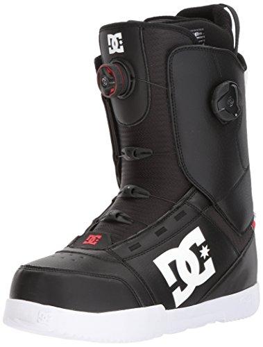 DC Men's Control Dual Boa Snowboard Boots, Black, 10