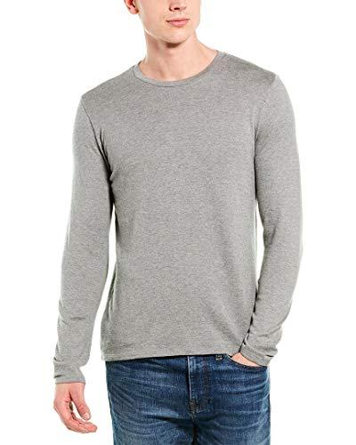 Vince Mens Cashmere-Blend Crewneck Sweater, L, Grey