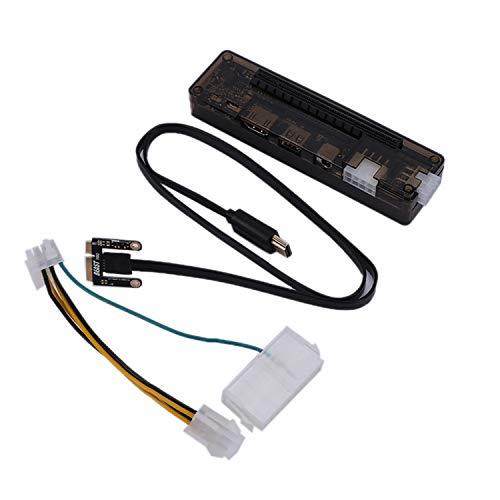 TOOGOO Pcie Pci-E V8.4D Exp Gdc Muelle De Tarjeta De Video para Ordenador Portátil Externa/Estación De Acoplamiento Portátil (Versión De Interfaz Mini Pci-E)