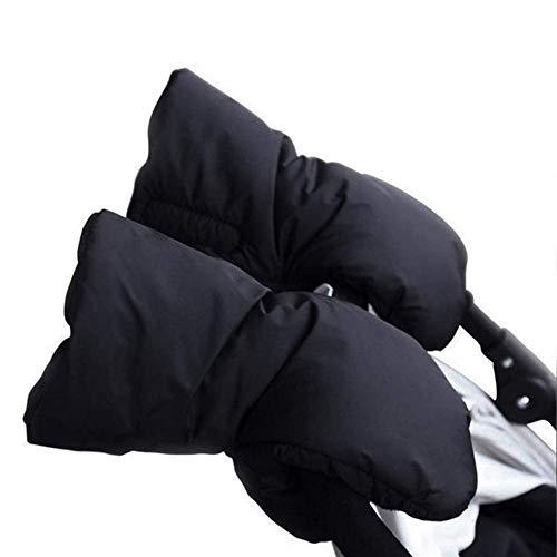 Handwärmer Kinderwagen Handschuhe, INTVN Handmuff mit warme Fleece und Baumwolle Innenseite, Universalgröße für Kinderwagen Kinderwagen muff Schwarz