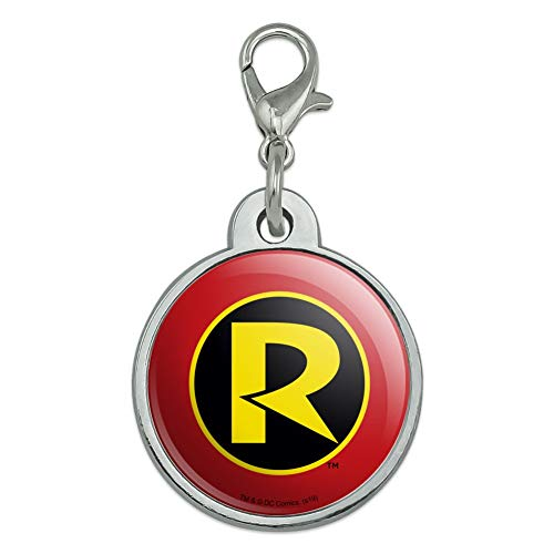 GRAPHICS & MORE Batman Robin Logo Chrome Plated Metal Pet Dog Cat ID Tag