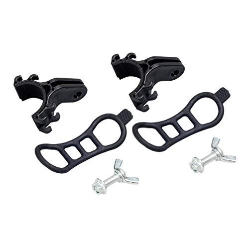 LIOOBO - 2 soportes para matrícula para bicicleta de carreras, número de bicicleta, soporte para linterna eléctrica para bicicleta
