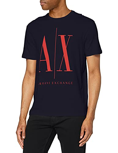 Armani Exchange T-Shirt Camiseta, Navy Red, M para Hombre