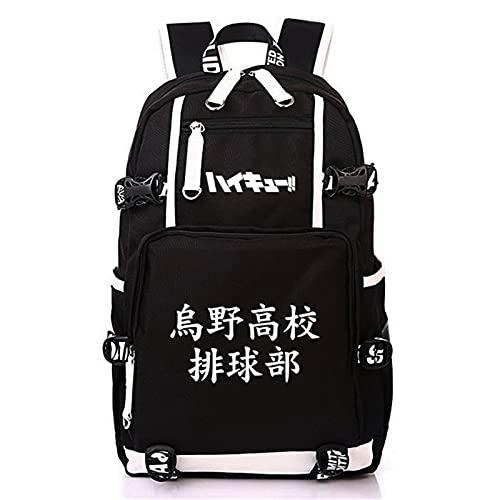 ISaikoy Anime Haikyuu Backpack Satchel Bookbag Daypack School Bag Laptop Shoulder Bag Style 1